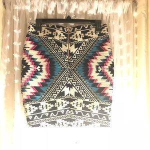 Xhilaration Skirts - Aztec bandage skirt
